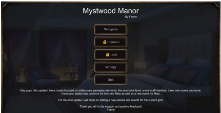Mystwood Manor 0.2.2.9 PC Game Download for Mac